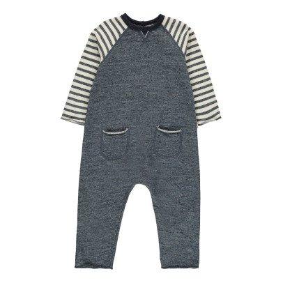 De Cavana Striped Fleece Jumpsuit-listing