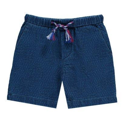 Simple Kids Madrid Textured Bermuda Shorts-listing