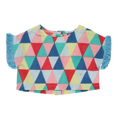Lulaland Blouse Coton Bio Triangles Eddie-listing