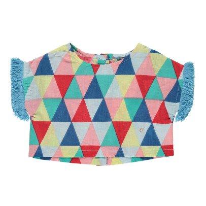 Lulaland Blusa Algodón Biológico Triángulos Eddie-listing
