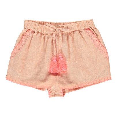 Louise Misha Shorts aus Leinen und Baumwolle Shamallow-listing