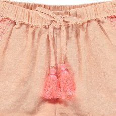 Louise Misha Shamallow Embroidered Cotton and Linen Shorts-listing