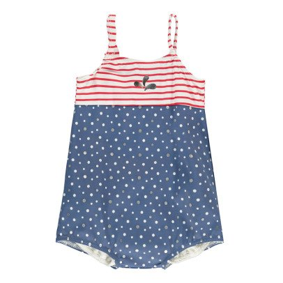 Archimède Seaside Polka Dot Striped 1 Piece Swimsuit-listing