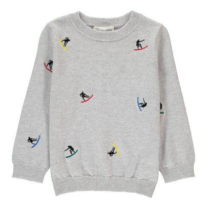 Simple Kids Surf Embroidered Jumper-listing