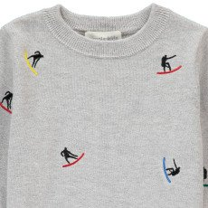 Simple Kids Pullover Surf Stickerei -listing