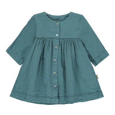 Poudre Organic Double Gaze Organic Cotton Dress with 3/4 Length Sleeves-listing