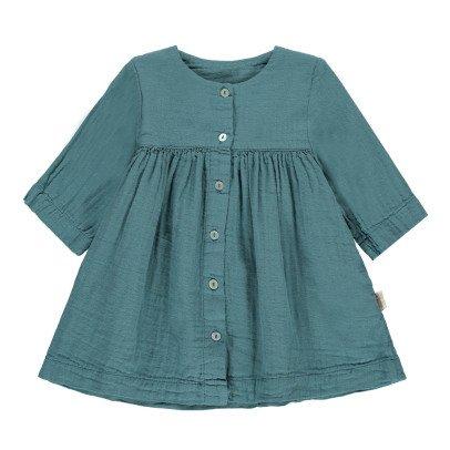 Poudre Organic Kleid mit Knöpfe aus Bio-Baumwolle -listing