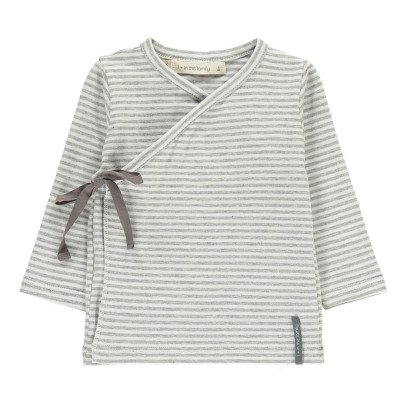 1+ IN THE FAMILY Moises Striped Fine Wrap T-Shirt-listing
