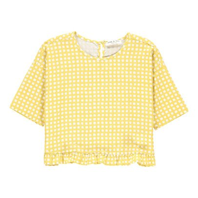 Babe & Tess Checked Blouse-listing