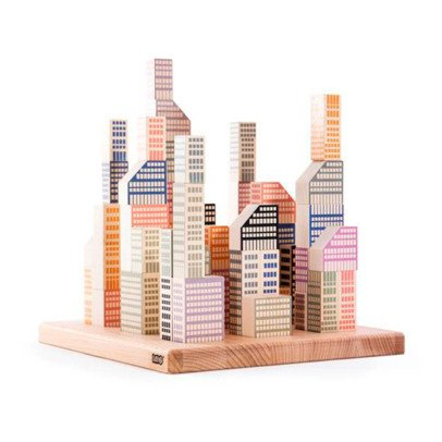 Bajo Cubos de madera ciudad de Manhattan - 54 piezas-listing