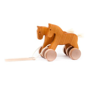 Bajo Wooden Pull-Along Horse-listing