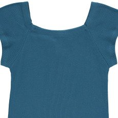 NICE THINGS MINI Ribbed Square Neck T-Shirt-listing