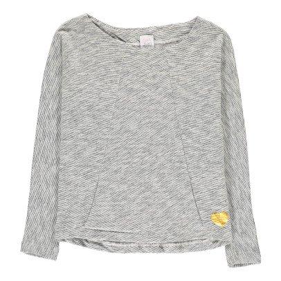Little Karl Marc John Tonny Heart Flecked Linen T-Shirt-listing