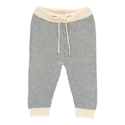 Lab - La Petite Collection Two-Tone Fluffy Stitch Mesh Jogging Bottoms-listing