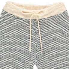 Lab - La Petite Collection Jogger Maille Point Fantaisie Bicolore-listing