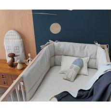 Camomile London Small Check Bed Bumper 35x190cm-listing