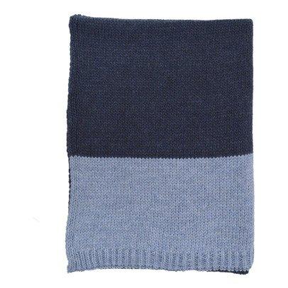 Camomile London Couverture tricot Indigo-Bleu-listing