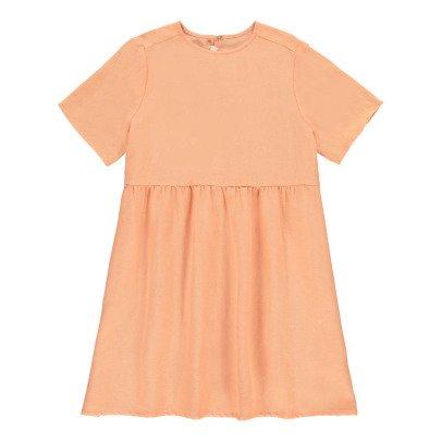 MAX & LOLA Kleid aus Baumwolle und Leinen- Rosa -listing