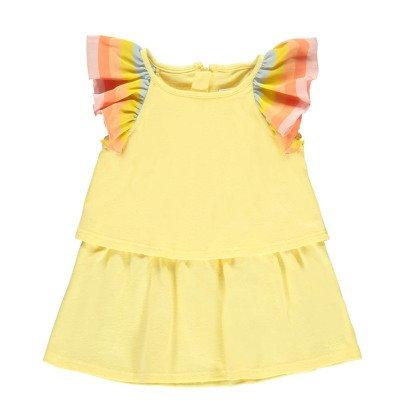 Chloé Striped Ruffle Jersey Dress-product