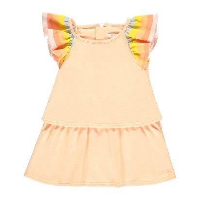 Chloé Gestreiftes Jersey-Kleid mit Rüschen -listing