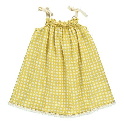 Babe & Tess Checked Sun Bath Dress-listing