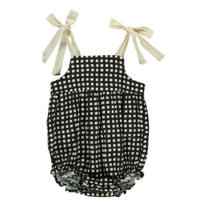 Babe & Tess Bow Checked Romper-listing