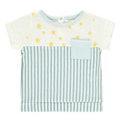 Blune Kids T-shirt Rayé Etoiles Superpower-listing