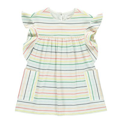 Chloé Gestreiftes Kleid mit Rüschen -listing