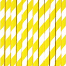 My Little Day Pailles chevrons jaunes - Lot de 25-listing