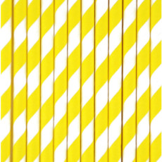 My Little Day Straw with yellow stripes - set of 25-listing