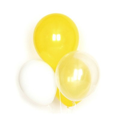 My Little Day Set of 10 latex balloons - yellow-listing