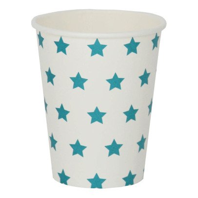 My Little Day Bicchieri in cartone stelle blu - Set da 8-listing