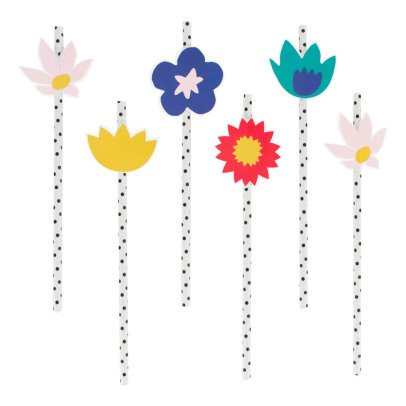 My Little Day Tropical Flowers Straws - Bundle of 12-listing