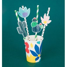 My Little Day Pajitas flores tropicales - Lote de 12-listing