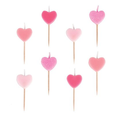 My Little Day Heart Birthday Candles - Set of 8-product