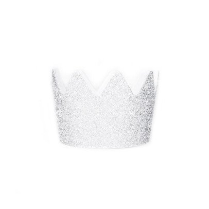 My Little Day Silver glitter paper crown - set of 8-listing