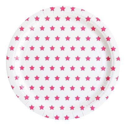 My Little Day Assiettes en carton étoiles fuchsia - Lot de 8-listing