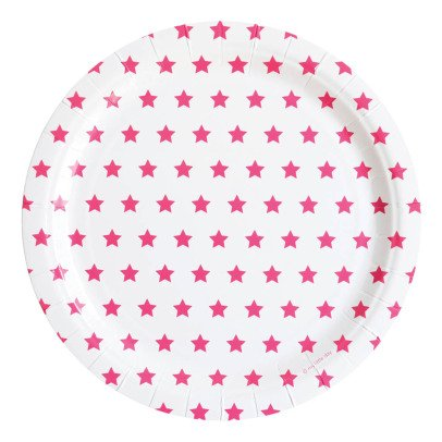 My Little Day Fuchsia Star Paper Plates - Pack of 8-listing
