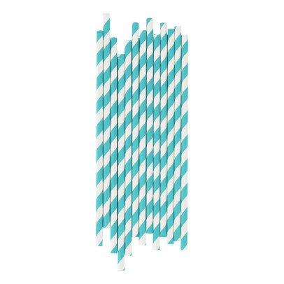 My Little Day Blue Striped Straws - Pack of 25-listing