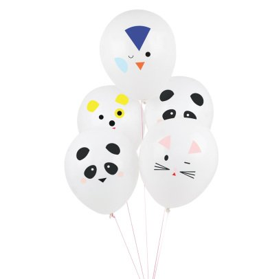 My Little Day Animal Printed Balloons - Set of 5-listing