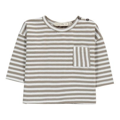 1+ IN THE FAMILY Langarm gestreiftes T-Shirt Nilo -listing