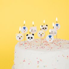 My Little Day Bougies d'anniversaire Animaux - Lot de 8-listing