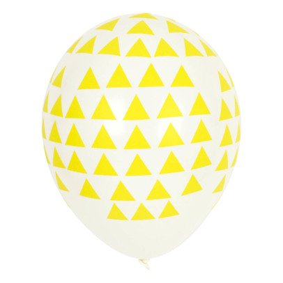 My Little Day Yellow Triangle Latex Balloons - Pack of 5-product