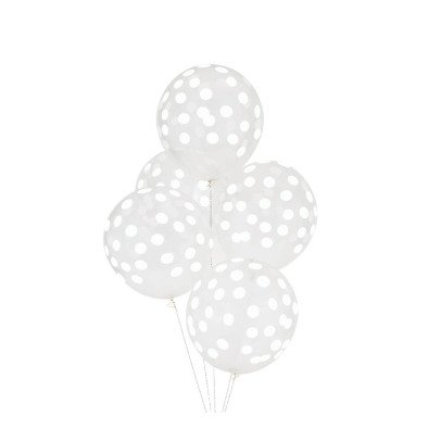 My Little Day Confetti Printed Balloons, White - Set of 5-listing
