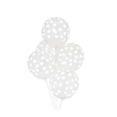 My Little Day Palloncini stampa confetti bianchi - Confezione da 5-listing