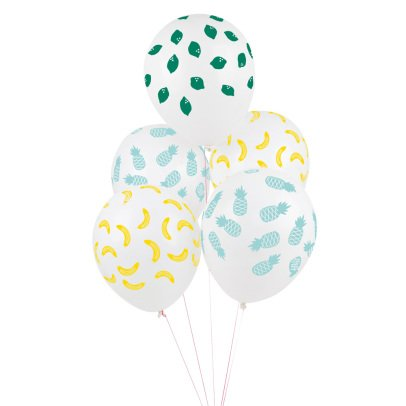 My Little Day Globos estampado Frutas  - Lote de 5-product