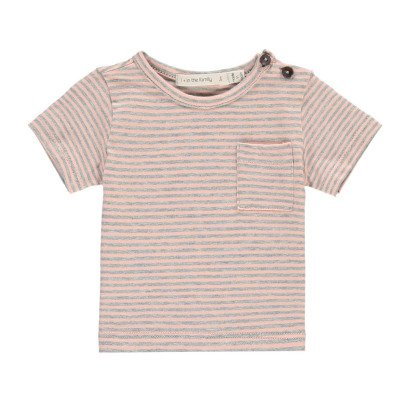 1+ IN THE FAMILY Albert Striped Fine Pocket T-Shirt-product