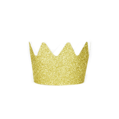 My Little Day Gold glitter paper crown - set of 8-listing