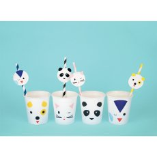 My Little Day Animal Paper Straws - Set of 12-listing