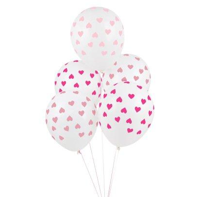My Little Day Ballons imprimés Cœurs - Lot de 5-listing